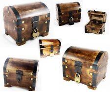SCHatzKiste Holzbox Holztruhe SchatzTruhe Metall beschlagen mit/ohne Schloss