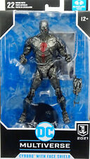 """DC JUSTICE LEAGUE CYBORG WITH FACE SHIELD 6"""" /ca.18 cm FIGURE McFARLANE TOYS"""