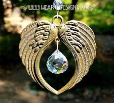 m/w Swarovski Mozart Ball Bronze Angel Wings Car Suncatcher Lilli Heart Designs