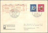 FDC Suisse - St-Moritz olympia 1948 Lettre a destination du Canada 25.6.1948