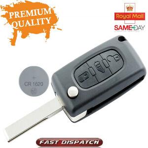 3Button Flip Key Fob Remote Case CE0523 For Citroen DISPATCH Fiat Scudo Berlingo
