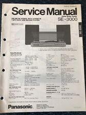Original Panasonic Technics Model SE-3000 Stereo Turntable Service Manual
