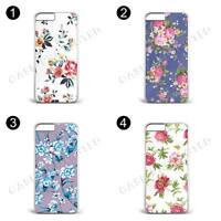 Floral Flowers Background Hard Plastic phone Case Cover For IPhone & Samsung