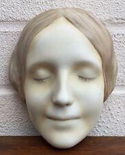 GOEBEL -L'INCONNUE DE LA SEINE- ART DECO GIRL LADY FACE WALL MASK PLAQUE FX 20/2