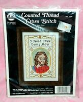 New NMI Needlemagic I Need Thee Counted Cross Stitch Kit Religious Jesus