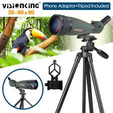 30-90X90 Angled Spotting Scope Monocular Telescope W/Phone Adaptor+Tripod IP 66
