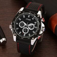 MCE 60193 Automatic Mechanical Multifuction 24 Hours Calendar Black Silicone Ban