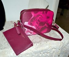 NWT $149 TED BAKER Porcelain Rose Leather Camera Bag Cross body Rose Gold
