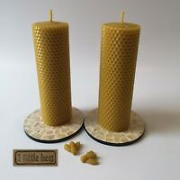 Birthday gift set 2 x 16cm Beeswax candles holders Chocolate Gift box hamper