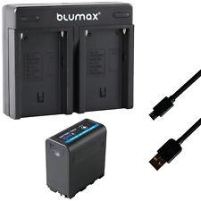 Akku für Sony NP-F980 5V USB DC 8,4V + Dual Charger NP-F970 | 65235-90108-90302