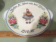Wwi World War One Germany Bread Plate War rations Waechtersbach