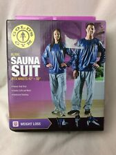 "Golds Gym XL-XXL Sauna Suit Fits Waists 42""-50"" Weight Loss"
