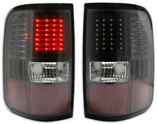 fit 2004-2008 Ford F150 Truck Black Housing LED Tail Lights DEPO