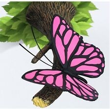3D Deco Wall Light PINK BUTTERFLY with STICKER Games Room / Kids Room