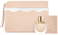 Chloe Nomade Perfume Nude Tan Leather Complimentary Pouch Clutch Makeup Bag New