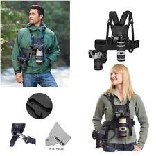 Double Shoulder Camera Strap side Holster Belt Harness for DSLR Digital Cameras