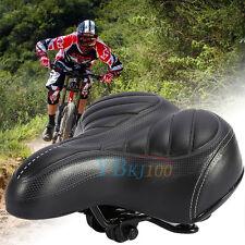 Wide Big Bum Bike Bicycle Sprung Gel Cruiser Comfort Sporty Soft Pad Saddle Seat