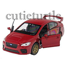 "4.5"" Welly 2015 Subaru WRX STi Diecast Toy Car 43693D Red"