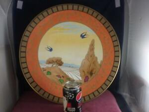 Huge Royal Worcester Swallows At Dusk The Art Deco Collection  Footed Bowl Lt Ed