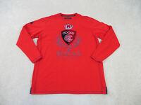 Coogi Shirt Adult 3XL XXXL Red Black Long Sleeve Spell Out Logo Mens 90s *