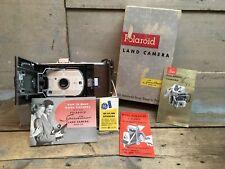 Vintage Polaroid Land Camera Model 95B Speedliner w/Original Box & Papers 1950s