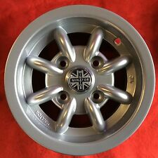 CLASSIC MINI SILVER ALLOY WHEELS 5.0 X 10 GENUINE MINATOR SET OF 4 COOPER SCP
