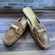 Cole Haan Women's Brown Leather Slip On Loafers Mules Slides Shoes 6M