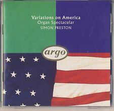 Variations on America - Organ Spectacular: Simon Preston (Argo) Like New