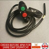 Motorcycle Head/Turn Signal Light/Horn ON-OFF Switch 7/8''Handlebar Button Black