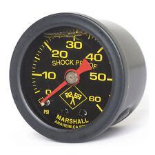 Marshall Öldruckmesser Öldruckanzeiger Midnight Black 60PSI f. Harley - Davidson