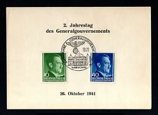 14204-GERMAN EMPIRE-Generalgouvernement-SHEET Warscha.Hitler.WW2.DEUTSCHES REICH
