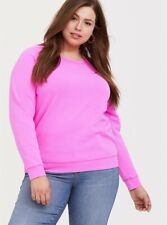 Womens Torrid Neon Pink Pullover Raglan Sweatshirt NWT 1