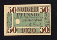 Notgeld 50 Pf Magistrat der Stadt Arnstast /Thüringen 1920 top