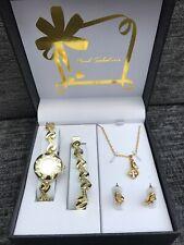 Paul Salatini Ladies Watch/ Jewellery Gift Set (gold)