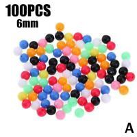 100X Round Glow Plastic Fishing Rig Beads Float Bait MixedColor DIY Fish G1V2