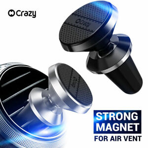 2 x CRAZY Universal Magnetic Car Holder Mount Air Vent for iPhone GPS Samsung