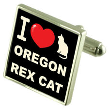 Me encanta mi Gato Plata Esterlina 925 Gemelos Bond dinero Clip Oregon REX CAT