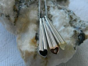 Clogau Sterling Silver & 9ct Gold Cariad Triple Heart Pendant RRP £270.00