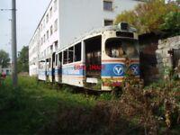 PHOTO  ROMANIA ARAD TRAM  DERELICT CAR V7