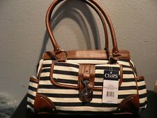 Brand new and authentic Chaps by Ralph Lauren Malena triple section satchel bag