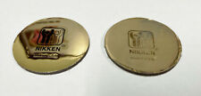 """Set Of 2 Nikken Kenko Gold Round 1.5"""" Round Magnets Magnetic Therapy"""