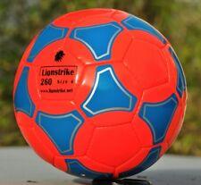 LIONSTRIKE Lightweight Leather Football size 4 ORANGE for children aged 7-13 yrs