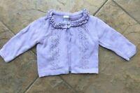 Gymboree CASTLE PRINCESS Euc 18-24 months Purple ruffle cardigan sweater !!