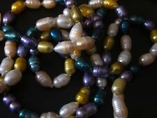 Beautiful  50 Inch Tiger Pearl Freshwater Cultured Pearls Multicolored Pearls