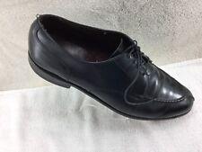 Allen Edmonds Black Leather Apron Toe Oxfords Shoes Men's Size 11C