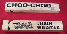 wholesale lot of 12 Real Sound Wood Train Whistle wholesale price $1.20 each New