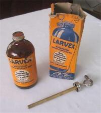 Vintage Amber-LARVEX-Mothproof Bottle-with-Atomizer & Original Box