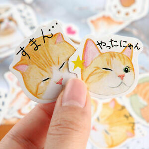 46PCS Cute Stickers Kawaii Stationery DIY Scrapbooking Stickers Diary Stickers