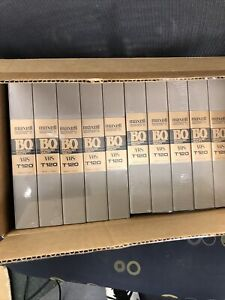 MAXELL PROFESSIONAL EPILAXIAL T120 BROADCAST QUALITY BQ VHS Tapes 10 PCS Sealed
