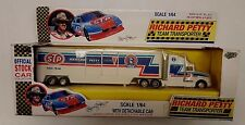 Road Champs NASCAR Richard Petty STP  Team Transporter Die Cast & Plastic 1/64
